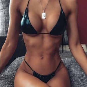 Latex bikini